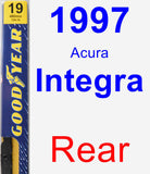 Rear Wiper Blade for 1997 Acura Integra - Premium