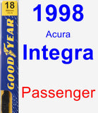 Passenger Wiper Blade for 1998 Acura Integra - Premium