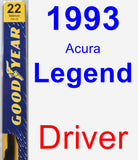 Driver Wiper Blade for 1993 Acura Legend - Premium