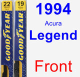 Front Wiper Blade Pack for 1994 Acura Legend - Premium