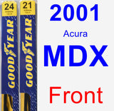 Front Wiper Blade Pack for 2001 Acura MDX - Premium