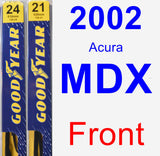 Front Wiper Blade Pack for 2002 Acura MDX - Premium