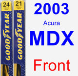 Front Wiper Blade Pack for 2003 Acura MDX - Premium