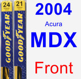 Front Wiper Blade Pack for 2004 Acura MDX - Premium