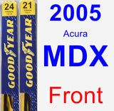 Front Wiper Blade Pack for 2005 Acura MDX - Premium