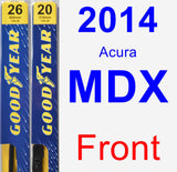 Front Wiper Blade Pack for 2014 Acura MDX - Premium