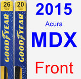 Front Wiper Blade Pack for 2015 Acura MDX - Premium