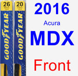 Front Wiper Blade Pack for 2016 Acura MDX - Premium