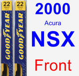 Front Wiper Blade Pack for 2000 Acura NSX - Premium