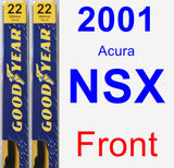 Front Wiper Blade Pack for 2001 Acura NSX - Premium