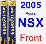 Front Wiper Blade Pack for 2005 Acura NSX - Premium