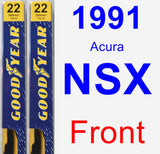 Front Wiper Blade Pack for 1991 Acura NSX - Premium