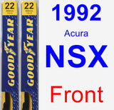 Front Wiper Blade Pack for 1992 Acura NSX - Premium