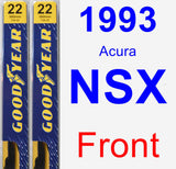 Front Wiper Blade Pack for 1993 Acura NSX - Premium
