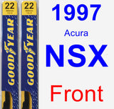 Front Wiper Blade Pack for 1997 Acura NSX - Premium