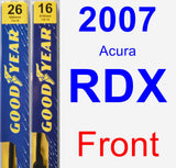 Front Wiper Blade Pack for 2007 Acura RDX - Premium