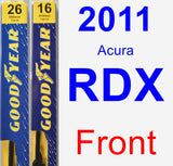 Front Wiper Blade Pack for 2011 Acura RDX - Premium