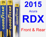 Front & Rear Wiper Blade Pack for 2015 Acura RDX - Premium