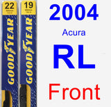 Front Wiper Blade Pack for 2004 Acura RL - Premium