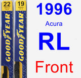 Front Wiper Blade Pack for 1996 Acura RL - Premium