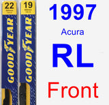 Front Wiper Blade Pack for 1997 Acura RL - Premium