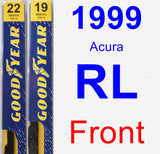 Front Wiper Blade Pack for 1999 Acura RL - Premium