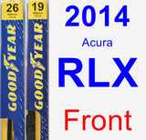 Front Wiper Blade Pack for 2014 Acura RLX - Premium