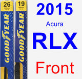 Front Wiper Blade Pack for 2015 Acura RLX - Premium