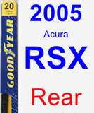 Rear Wiper Blade for 2005 Acura RSX - Premium