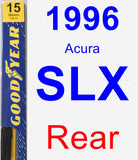 Rear Wiper Blade for 1996 Acura SLX - Premium