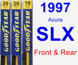 Front & Rear Wiper Blade Pack for 1997 Acura SLX - Premium