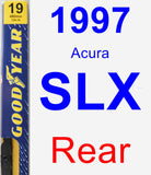 Rear Wiper Blade for 1997 Acura SLX - Premium