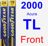 Front Wiper Blade Pack for 2000 Acura TL - Premium