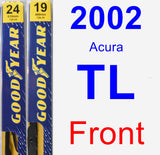 Front Wiper Blade Pack for 2002 Acura TL - Premium