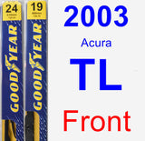 Front Wiper Blade Pack for 2003 Acura TL - Premium