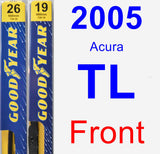 Front Wiper Blade Pack for 2005 Acura TL - Premium