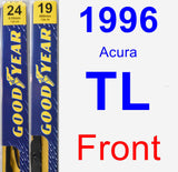 Front Wiper Blade Pack for 1996 Acura TL - Premium
