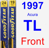Front Wiper Blade Pack for 1997 Acura TL - Premium