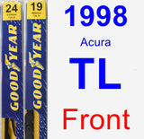 Front Wiper Blade Pack for 1998 Acura TL - Premium