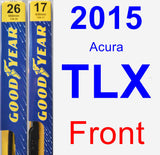 Front Wiper Blade Pack for 2015 Acura TLX - Premium