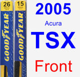 Front Wiper Blade Pack for 2005 Acura TSX - Premium