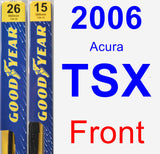 Front Wiper Blade Pack for 2006 Acura TSX - Premium