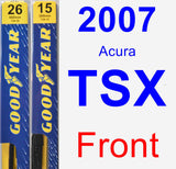 Front Wiper Blade Pack for 2007 Acura TSX - Premium