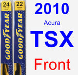 Front Wiper Blade Pack for 2010 Acura TSX - Premium