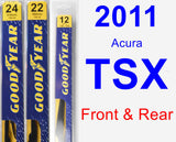 Front & Rear Wiper Blade Pack for 2011 Acura TSX - Premium