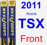 Front Wiper Blade Pack for 2011 Acura TSX - Premium