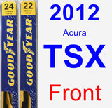 Front Wiper Blade Pack for 2012 Acura TSX - Premium