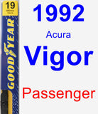 Passenger Wiper Blade for 1992 Acura Vigor - Premium