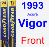 Front Wiper Blade Pack for 1993 Acura Vigor - Premium
