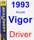 Driver Wiper Blade for 1993 Acura Vigor - Premium